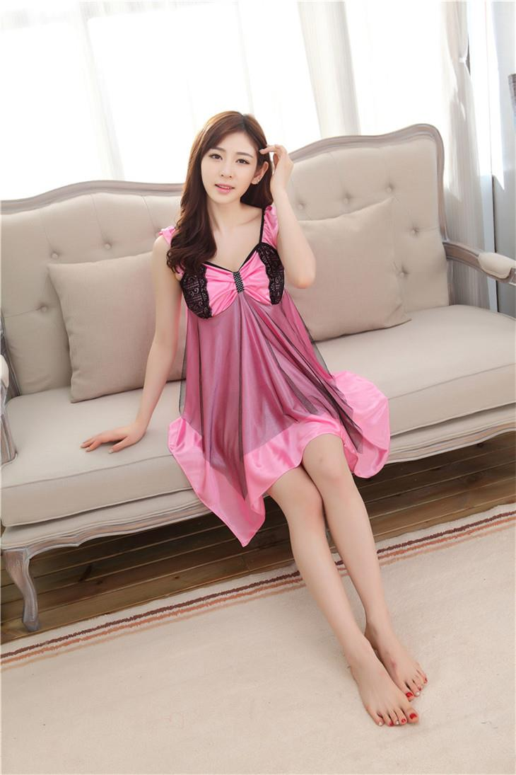 Cool Sleeveless Irregular Temptation Sexy Lingrie (Pink)