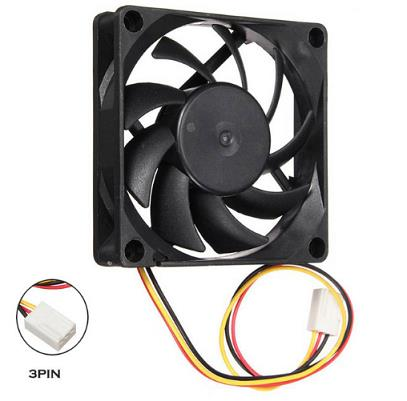 Cooler Fan 70mm 7cm DC12V Cooling Ball Bearing Fans