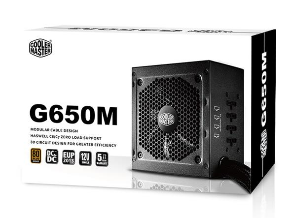 Cooler Master CM G650M 80Plus Bronze (Semi Modular) Power Supply 650w