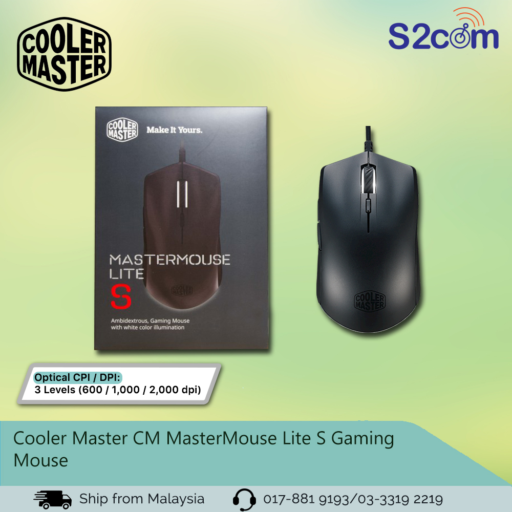 Cooler Master CM MasterMouse Lite S Gaming Mouse