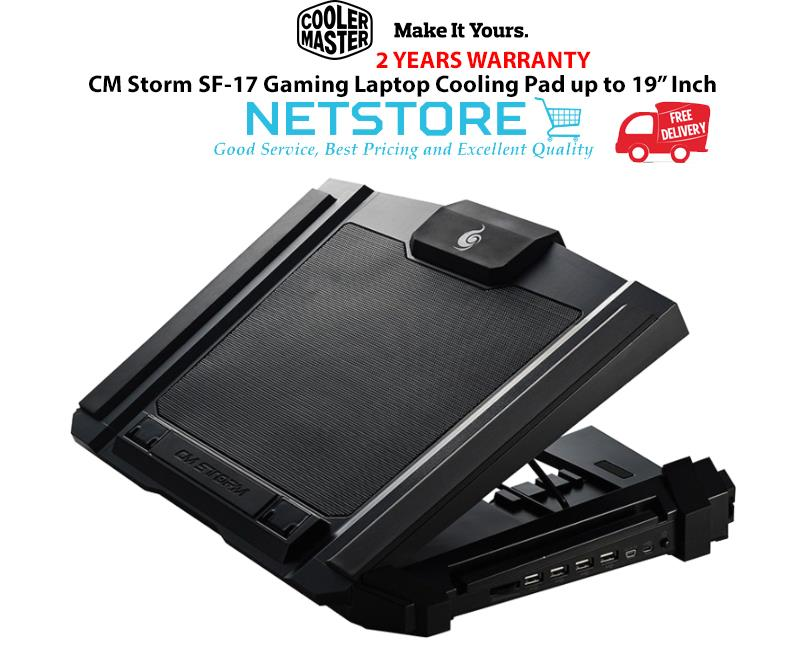 Best Gaming Laptop Cooling Pad 2020 Cooler Master CM Storm SF 17 Gaming (end 4/30/2020 11:15 AM)
