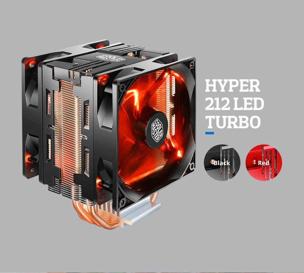 # COOLER MASTER Hyper 212 LED Turbo - CPU Air Cooler # Black | Red