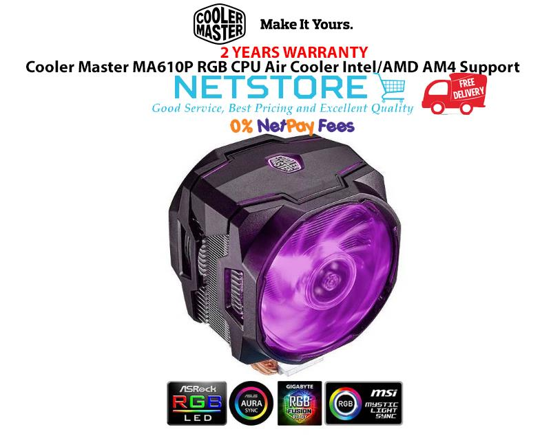 Cooler Master MA610P RGB Intel/ AM4 CPU Air Cooler - MAP-T6PN-218PC-R1