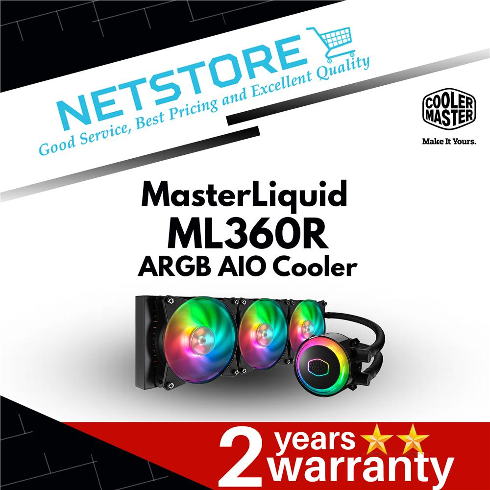Best Aio Cooler 2020.Cooler Master Masterliquid Ml360r Argb Aio Cpu Liquid Cooler