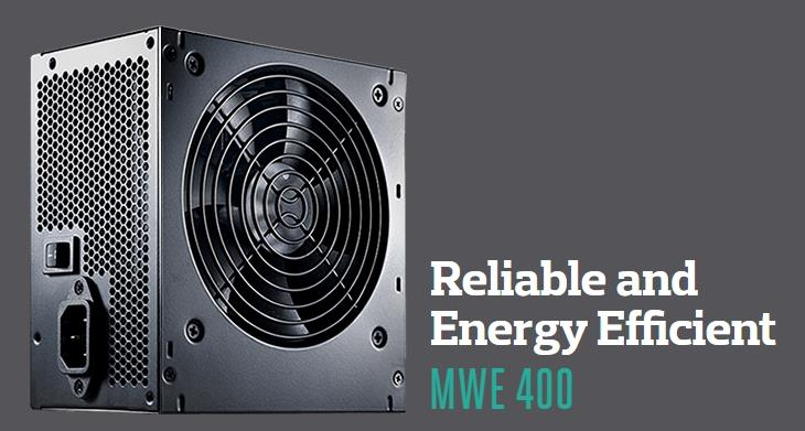 COOLER MASTER MWE 400W POWER SUPPLY (MPW-4002-ACABW)