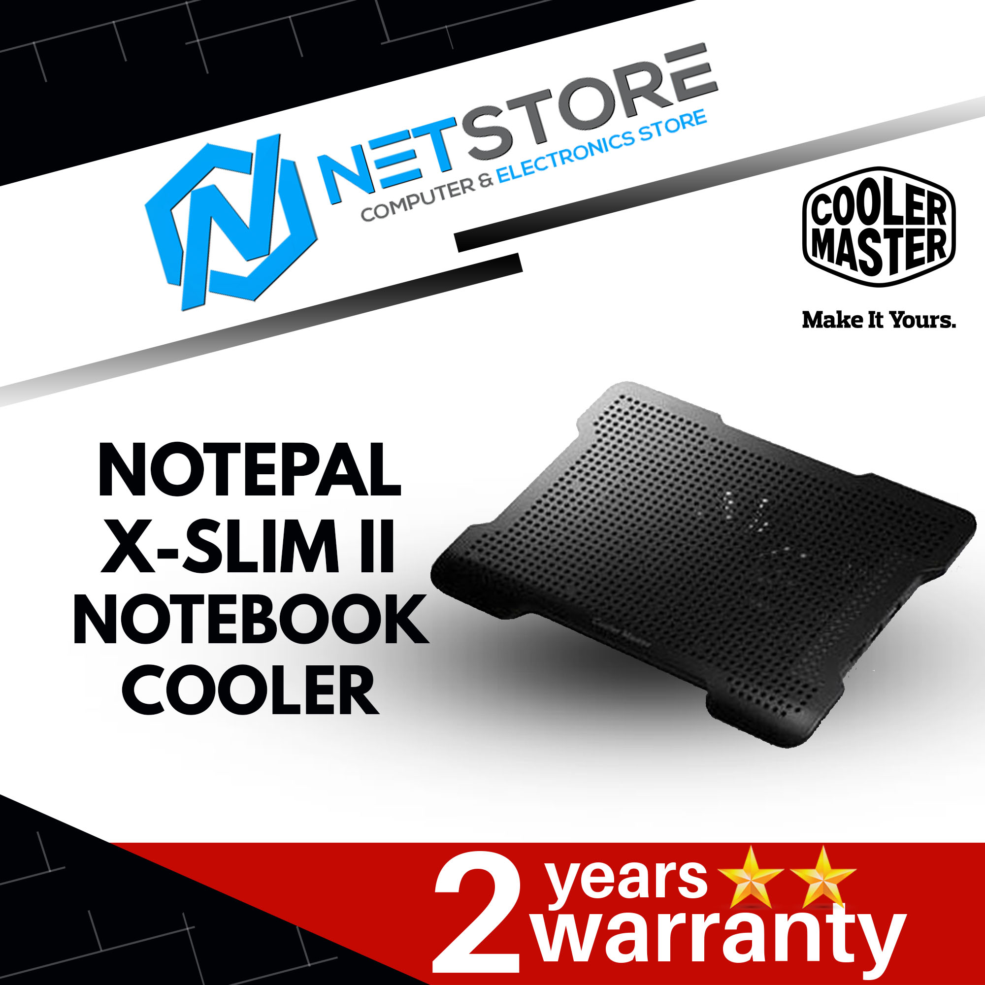 COOLER MASTER NOTEPAL X-SLIM II NOTEBOOK COOLER R9-NBC-XS2K-GP