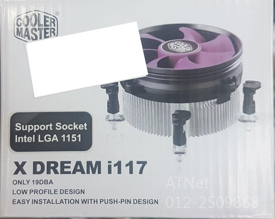 COOLER MASTER LOW PROFILE PROCESSOR FAN X DREAM i117
