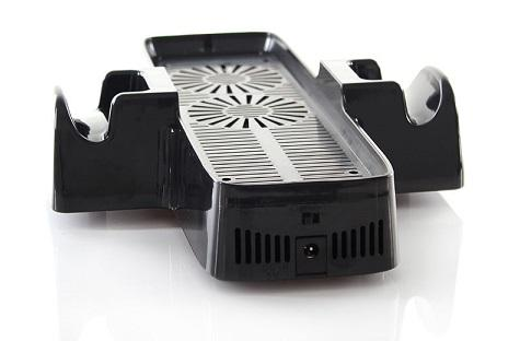 Cooling Fan Console Stand with Controller Storage for Xbox360 Slim