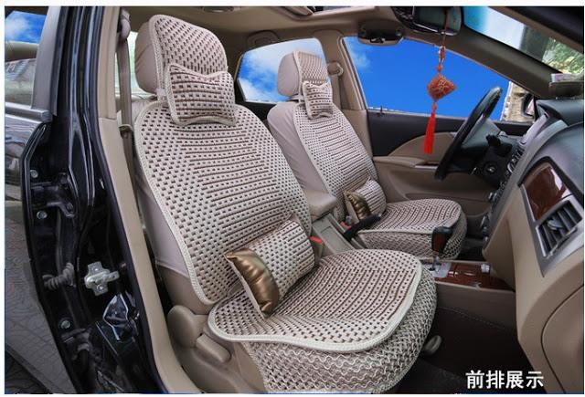 Cooling Ice Silk Car Seat Cover
