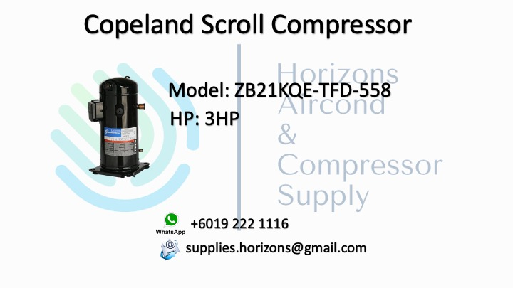 COPELAND SCROLL COMPRESSOR ZB21KQE-TFD-558