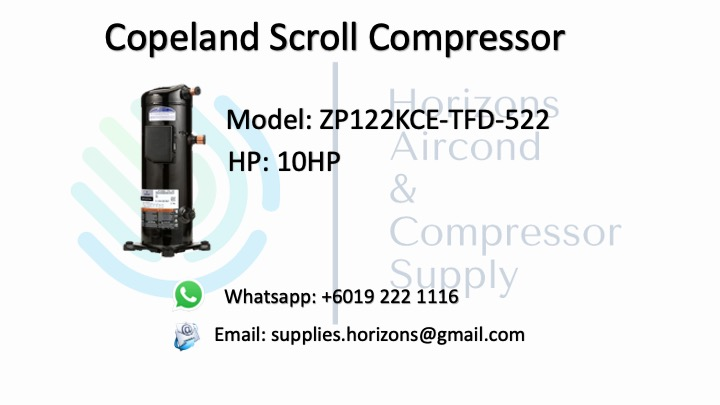 COPELAND SCROLL COMPRESSOR ZP122KCE-TFD-522