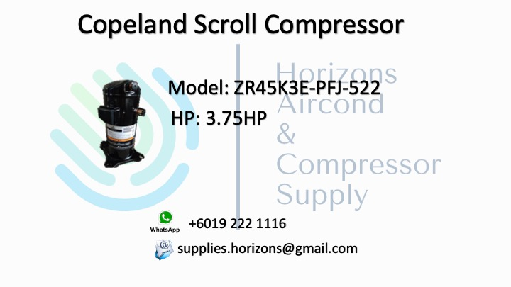COPELAND SCROLL COMPRESSOR ZR45K3E-PFJ-522