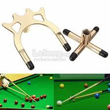 Copper Metal Billiard Snooker Pool Cue Stick Rest Bridge