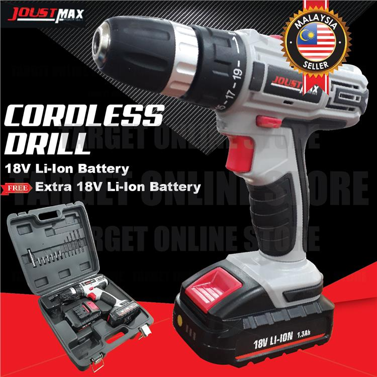 Cordless Drill Hand Power Tool Screwdrivers Rechargeable Li-Ion 18/12V