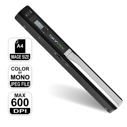 Cordless Portable Document Scanner 600/300 DPI (SC-PIX).