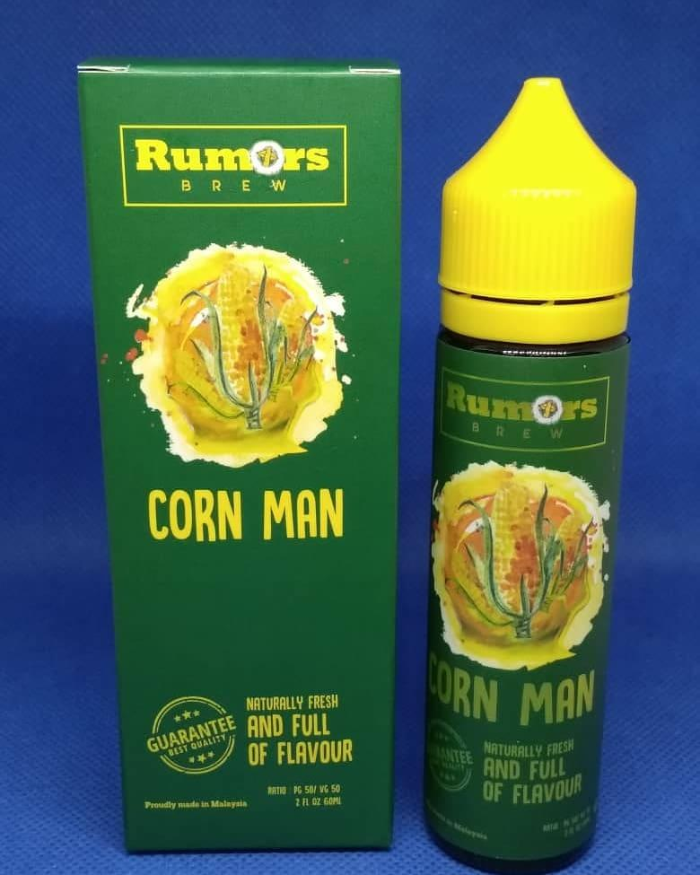 Corn Man Rumors Ejuice 60ml -6/12mg Cornman Vape Eliquid -Original