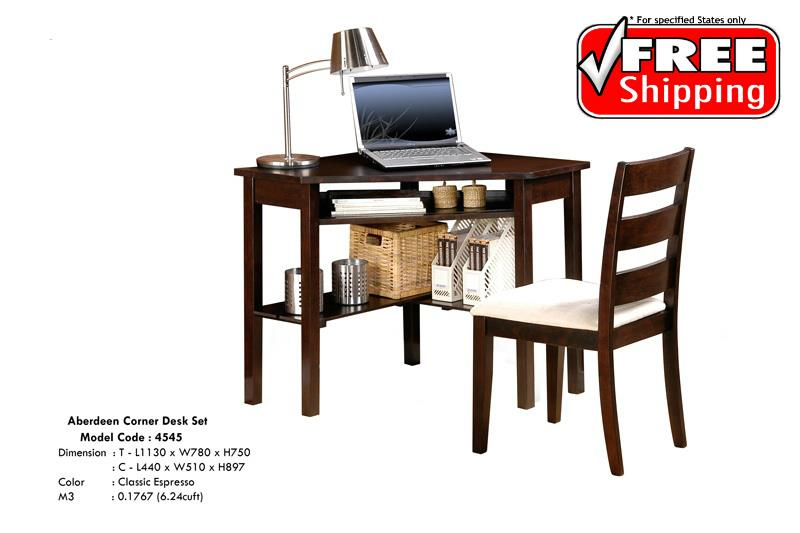 Corner Desk Table And Chair Set (* Free Delivery)