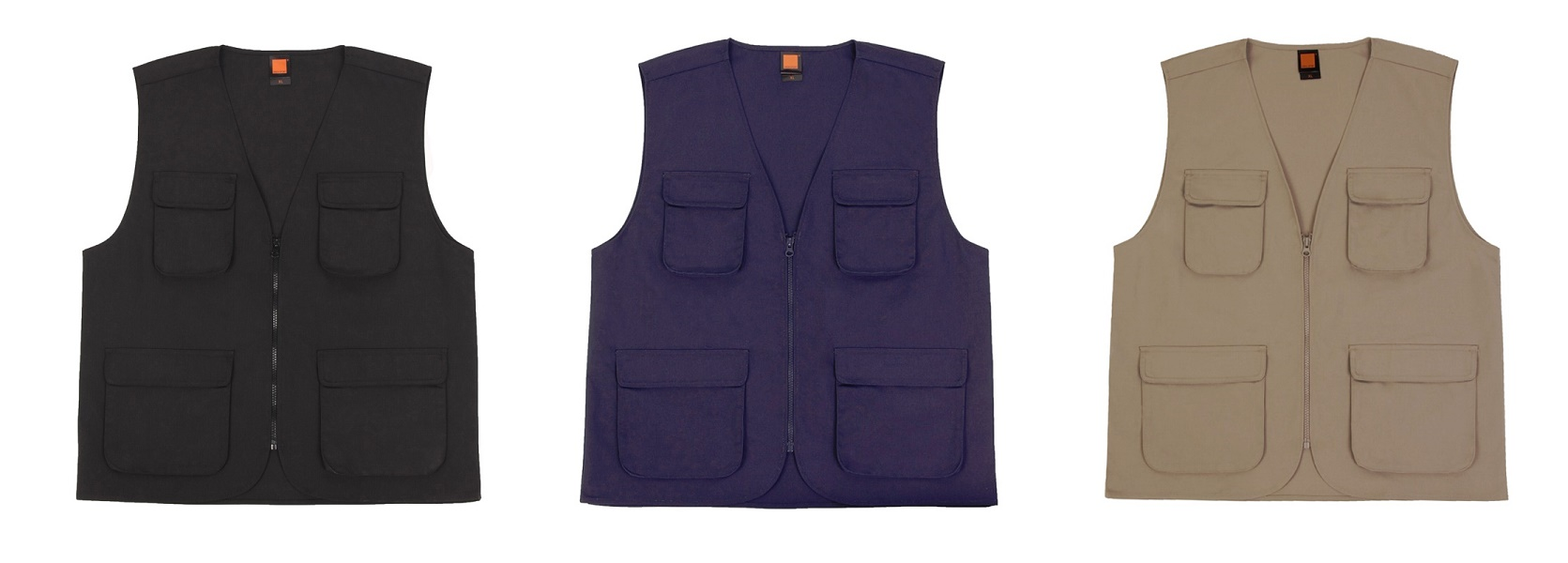 Corporate Apparel Sleeveless Vest Navy Blue Black Khaki MOQ 10 Units