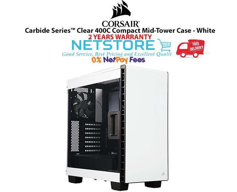 official photos 4077f 3c9dc Corsair Carbide Series Clear 400C Compact Mid Tower PC Case - White