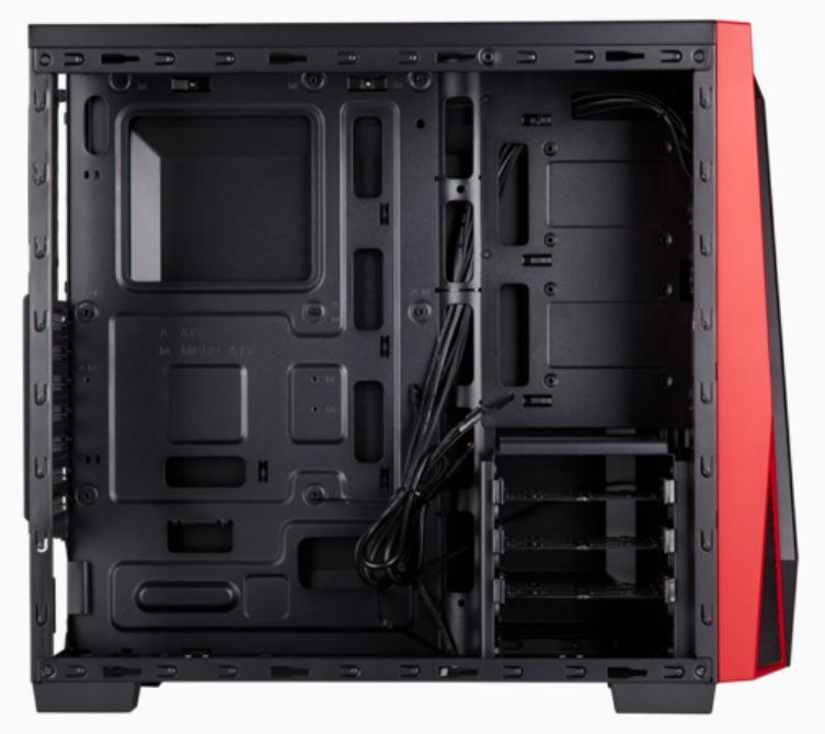 Corsair Carbide SPEC-04 Tempered Glass Mid Tower Casing (Black/Red)