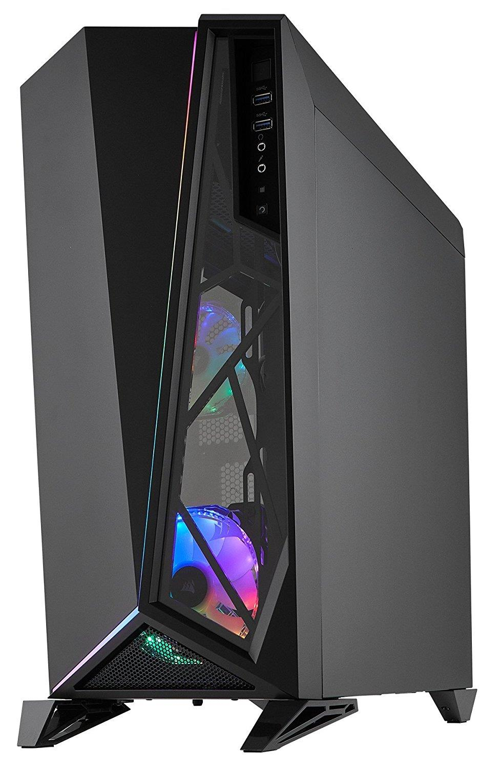 Corsair Carbide SPEC OMEGA RGB Mid Tower Tempered Glass Casing (Black)