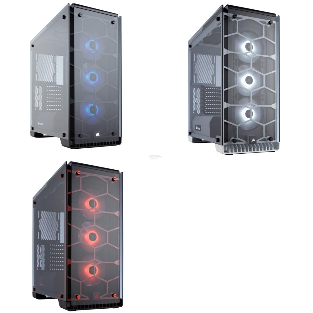 # CORSAIR Crystal Series 570X RGB ATX Mid-Tower Case # 3 Color Avlbl