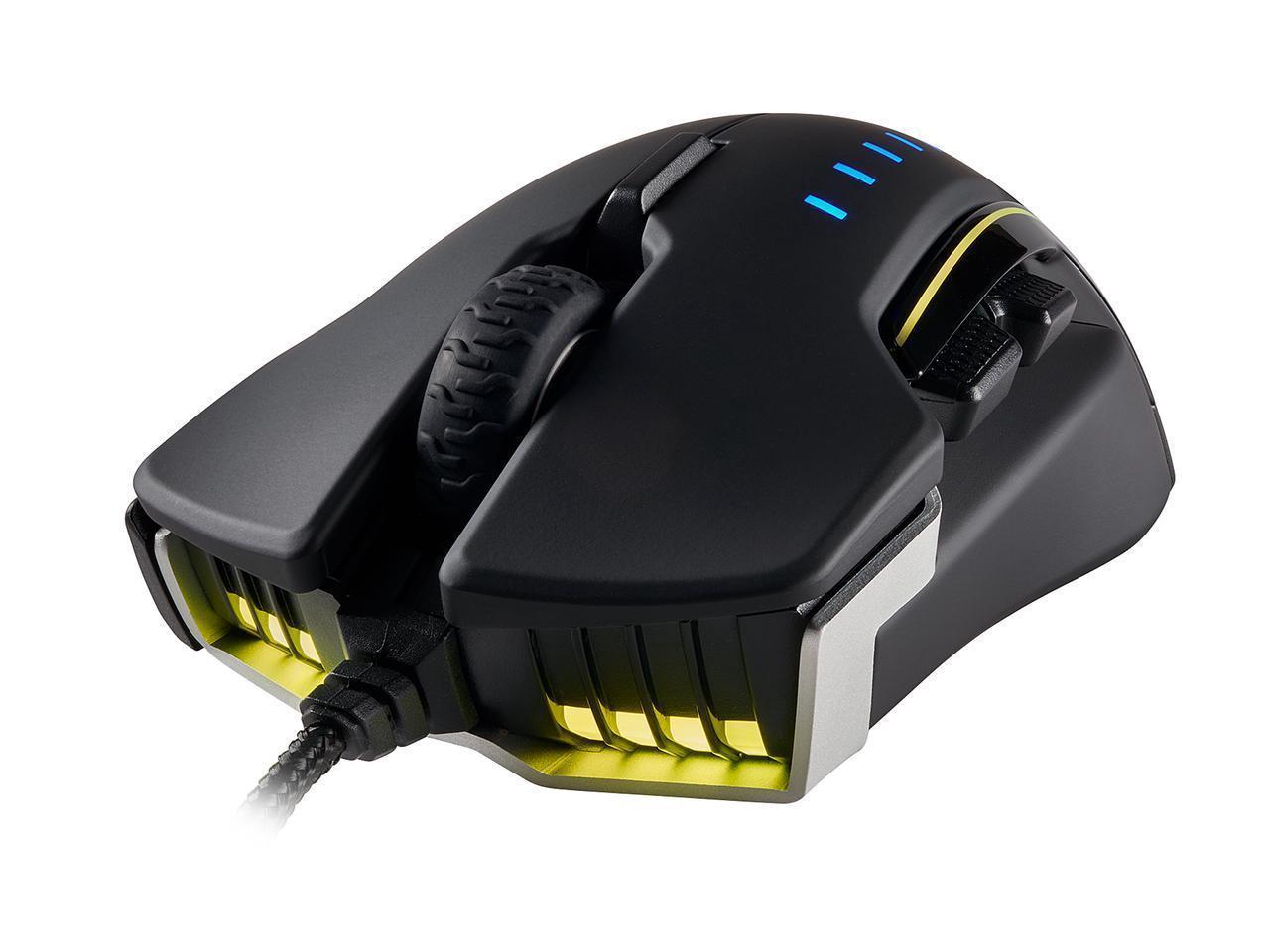 Corsair Gaming GLAIVE RGB Optical Gaming Mouse   Aluminum
