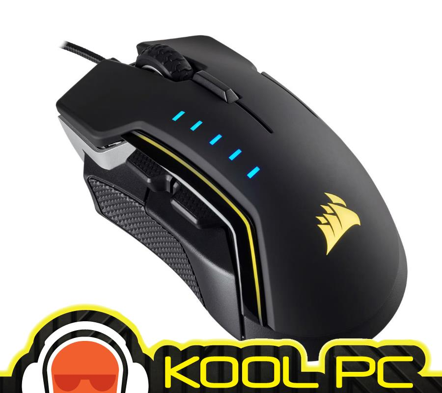 * CORSAIR GLAIVE RGB Gaming Mouse Aluminum CH-9302111-AP