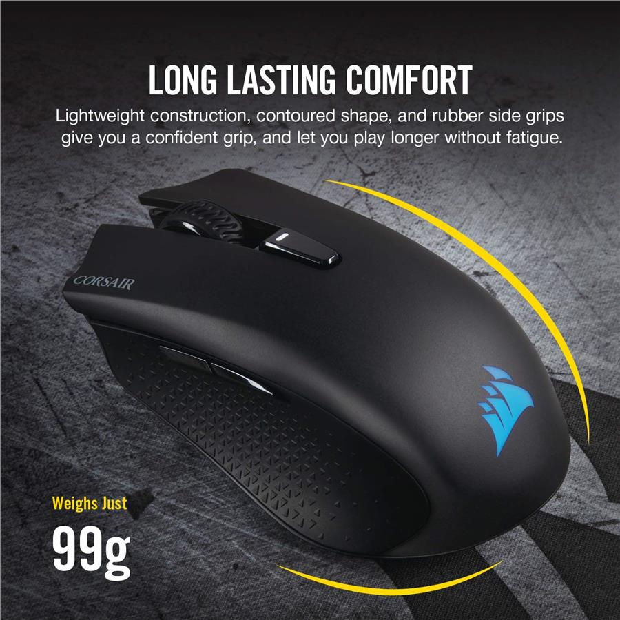 CORSAIR Harpoon RGB Wireless - Wireless Rechargeable Gaming Mouse