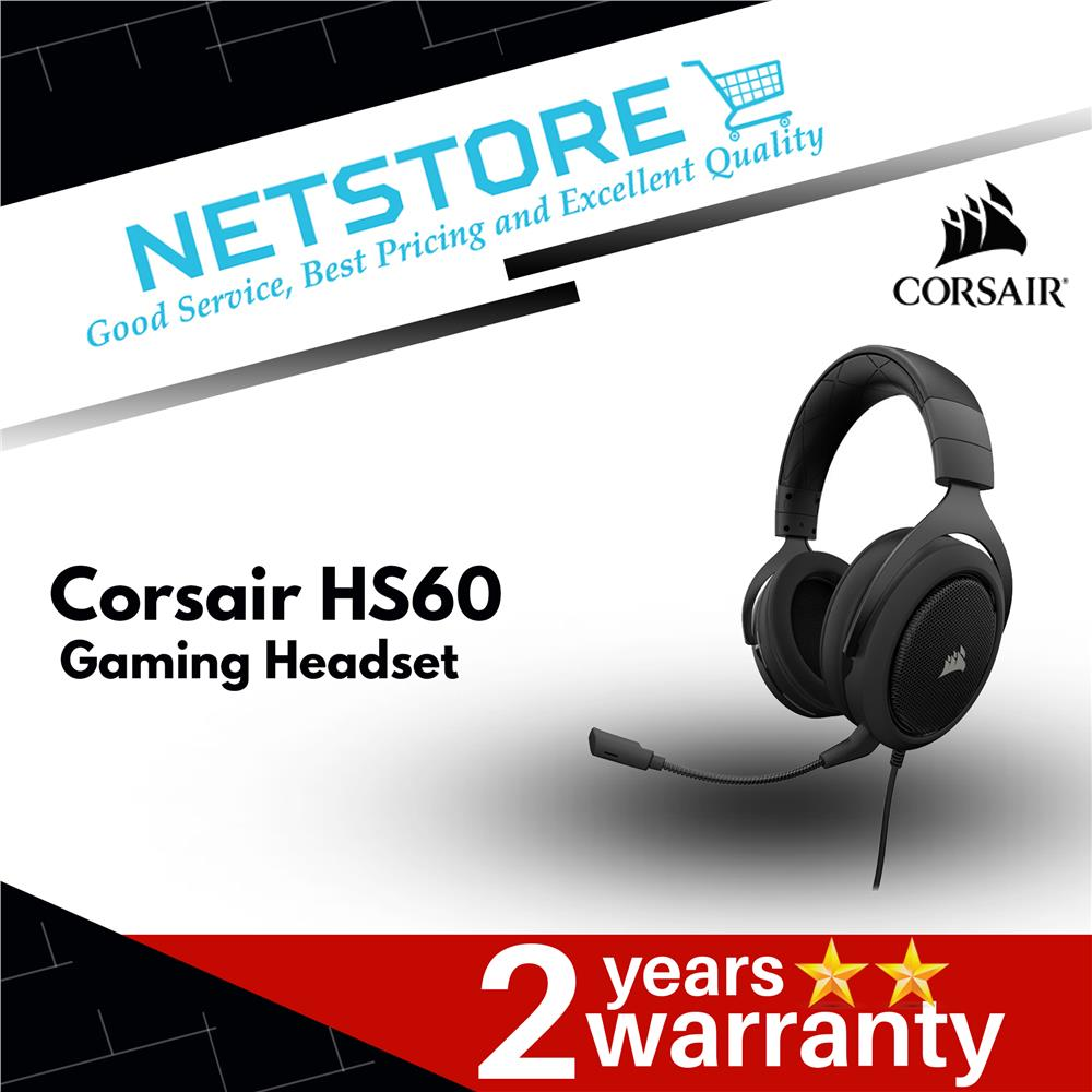 CORSAIR HS60 7 1 SURROUND SOUND GAMING HEADSET - CARBON