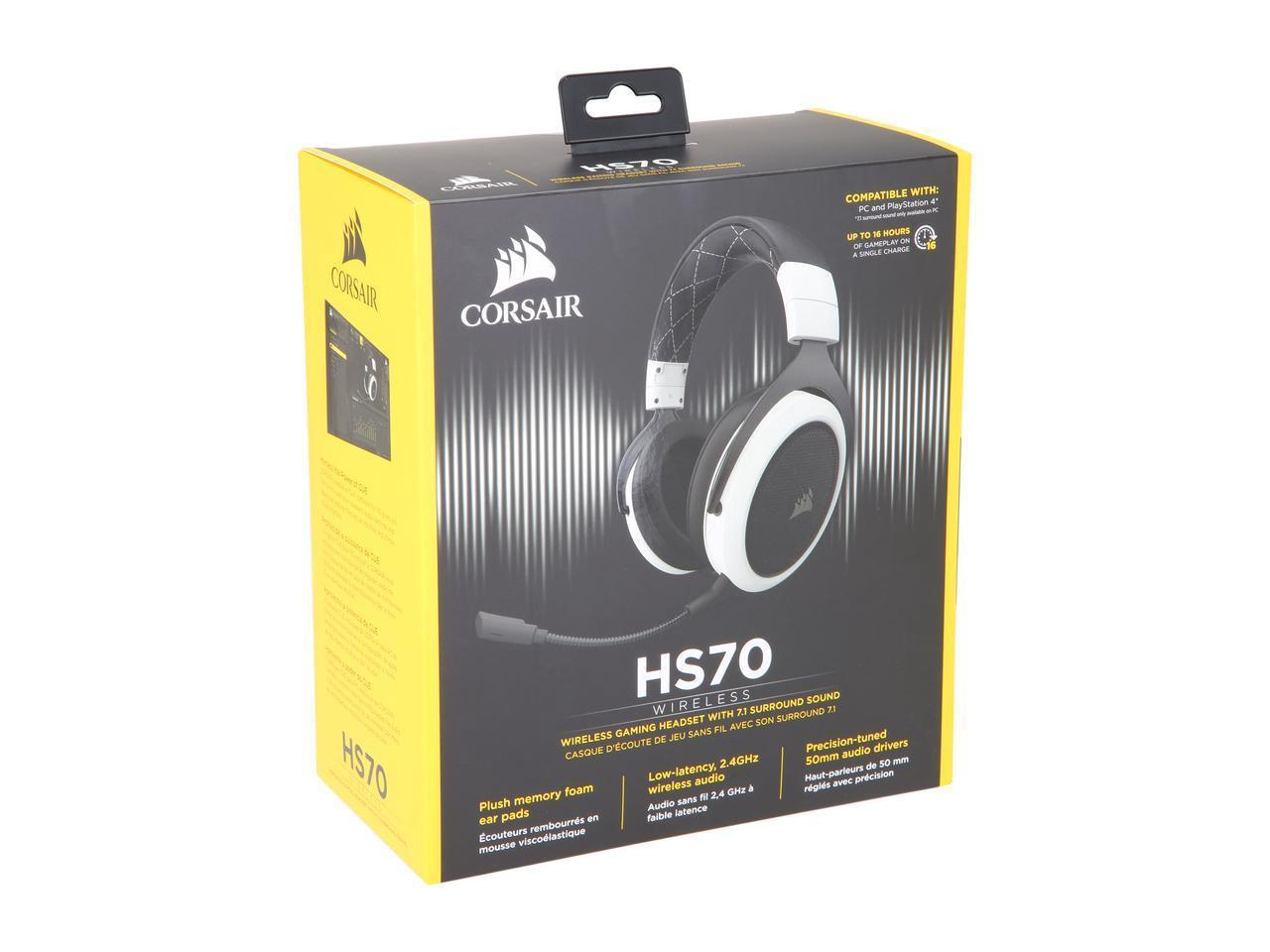 Corsair HS70 Wireless Gaming Headset With 71 Surround Sound
