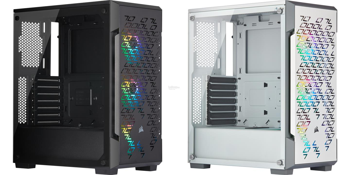 # CORSAIR iCUE 220T RGB Tempered Glass Mid-Tower Case # 2 Color Avlbl