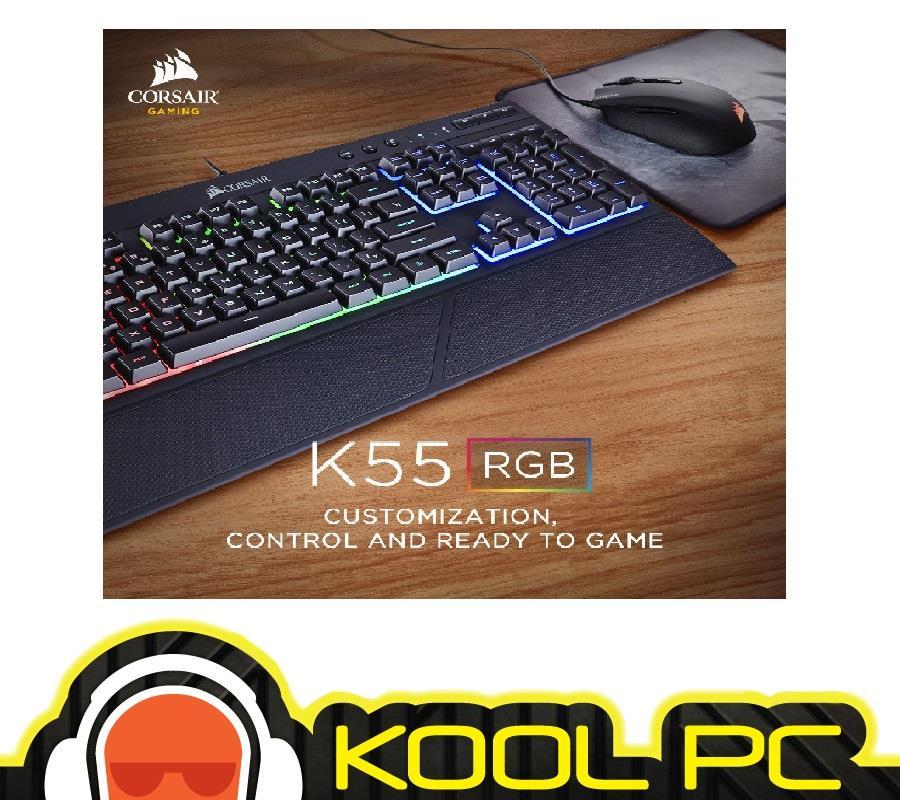Corsair K55 RGB Keyboard Backlit R (end 8/24/2018 7:15 PM)