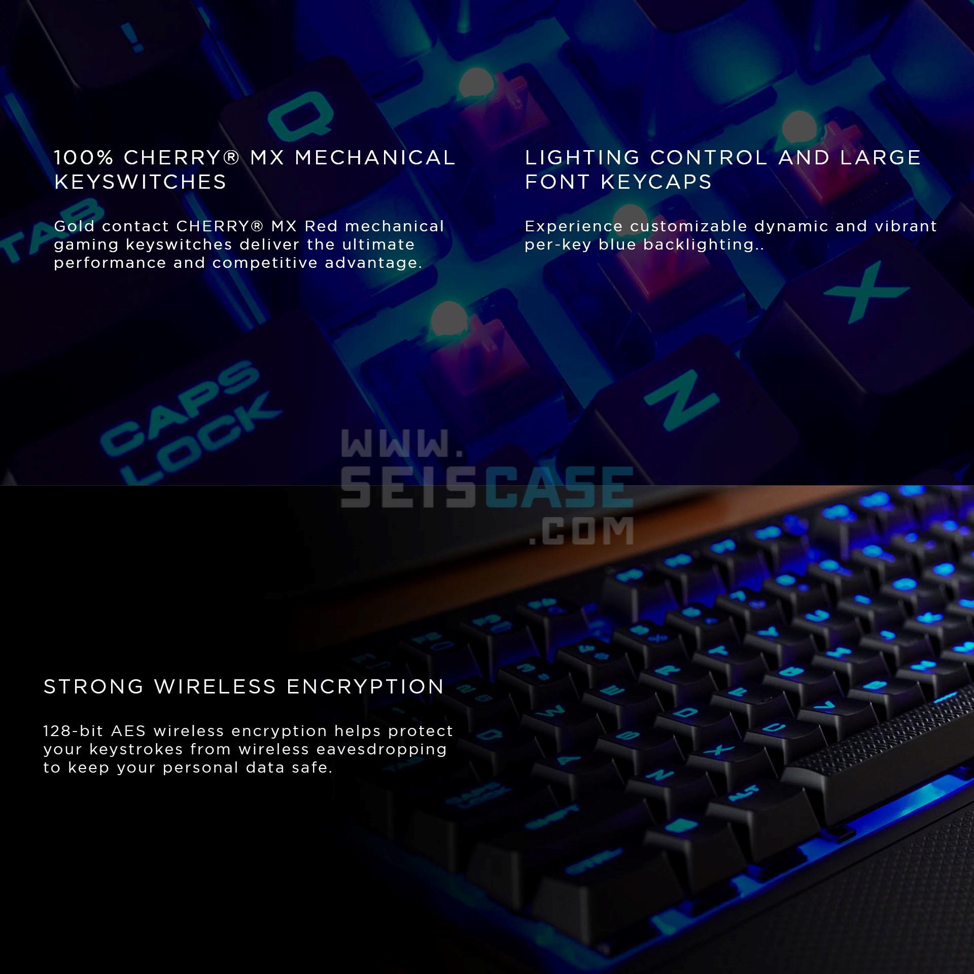 CORSAIR K63 Wireless Compact Mechanical Gaming Keyboard Cherry MX Red