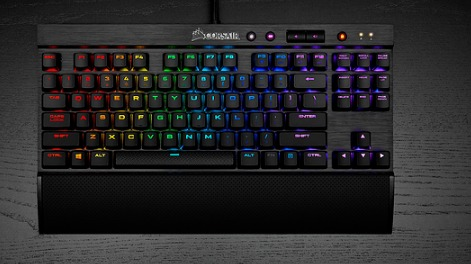 Corsair K65 RGB RAPIDFIRE Compact Mechanical Keyboard Cherry MX RGB Sp