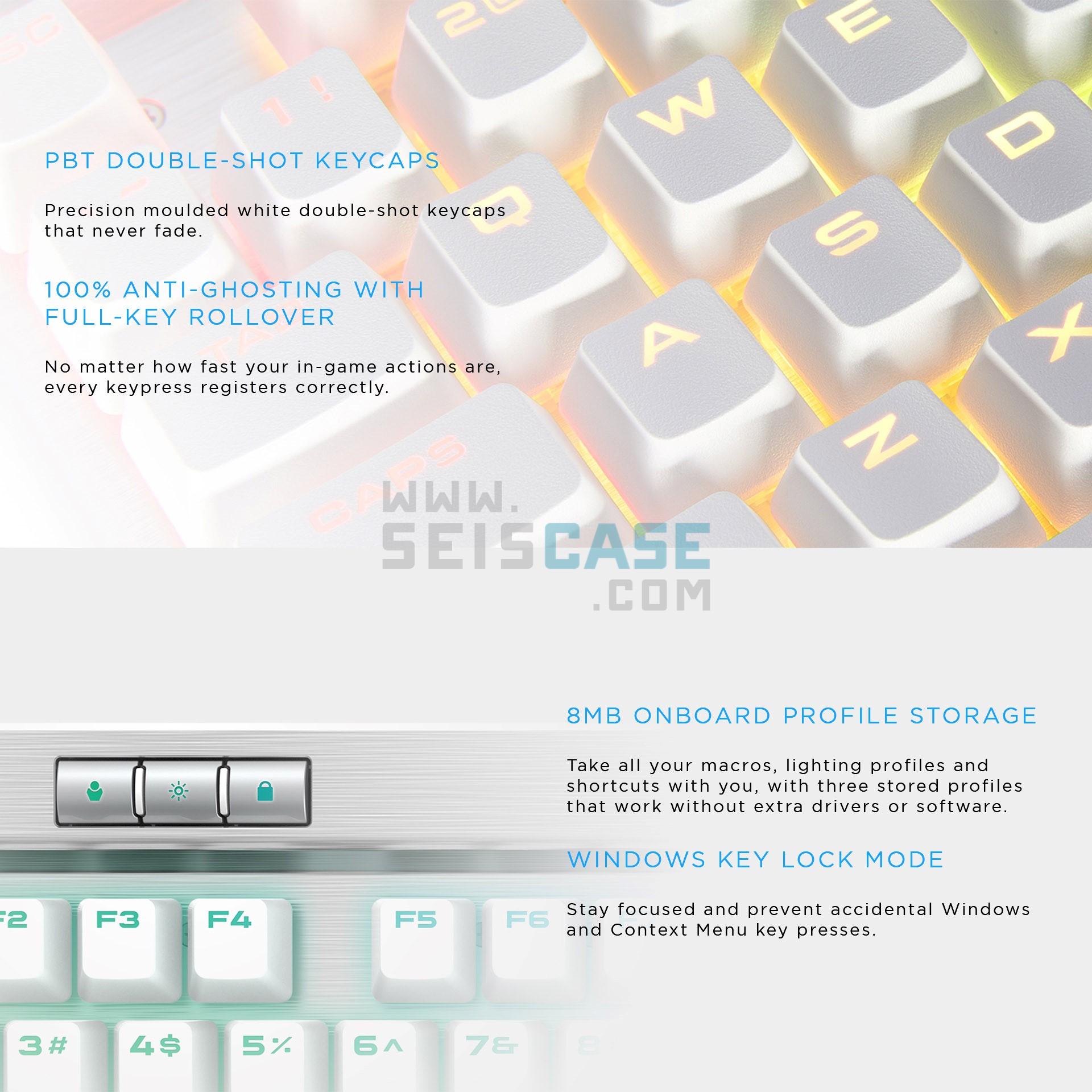CORSAIR K70 RGB MK 2 SE Mechanical Gaming Keyboard Cherry MX Speed