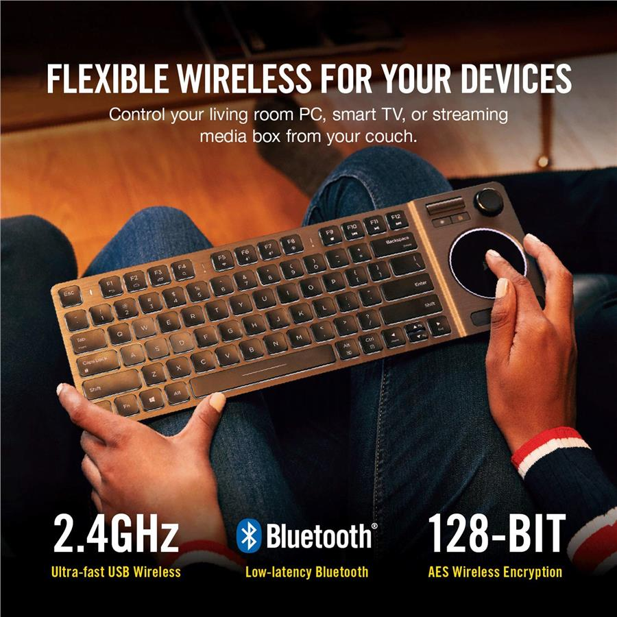 Corsair K83 Wireless Keyboard - Bluetooth and USB