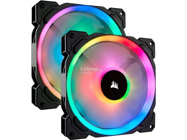 CORSAIR LL140 140MM RGB LED PWM FAN 2 PACK CO 9050074