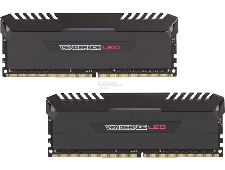 CORSAIR RAM DDR4 VENGEANCE LED 2X 16GB PC2666 CMU16GX4M2A2666C16R