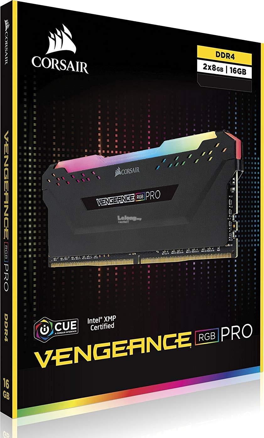 CORSAIR RAM VENGEANCE RGB PRO 2X 16GB 3600 C18 BLK CMW16GX4M2C3600C18