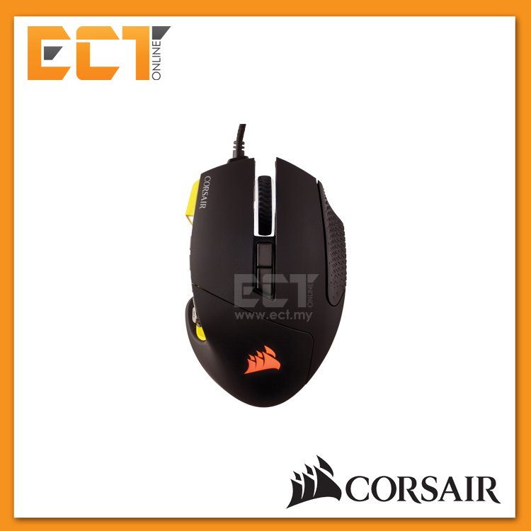 ba5e859f97c Corsair SCIMITAR PRO RGB Optical MOBA/MMO Gaming Mouse - Yellow/Black. ‹ ›
