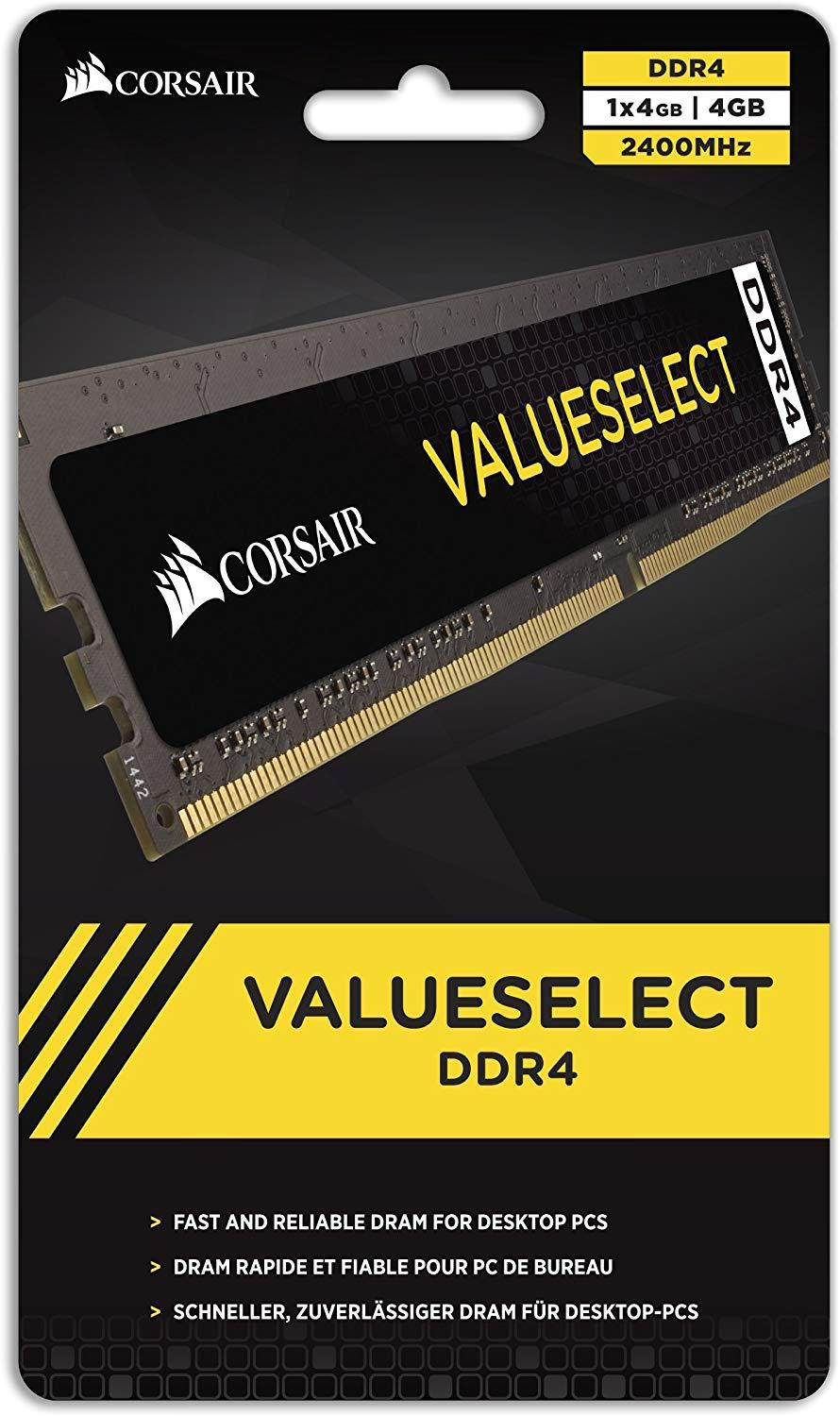 CORSAIR VALUE SELECT 4GB DDR4 2666Mhz C18 - CMV4GX4M1A2666C18