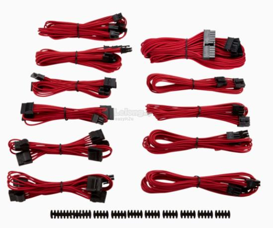 CORSAIR SLEEVED PSU CABLE KIT TYPE 4 (GENERATION 3) -RED CP-8920152