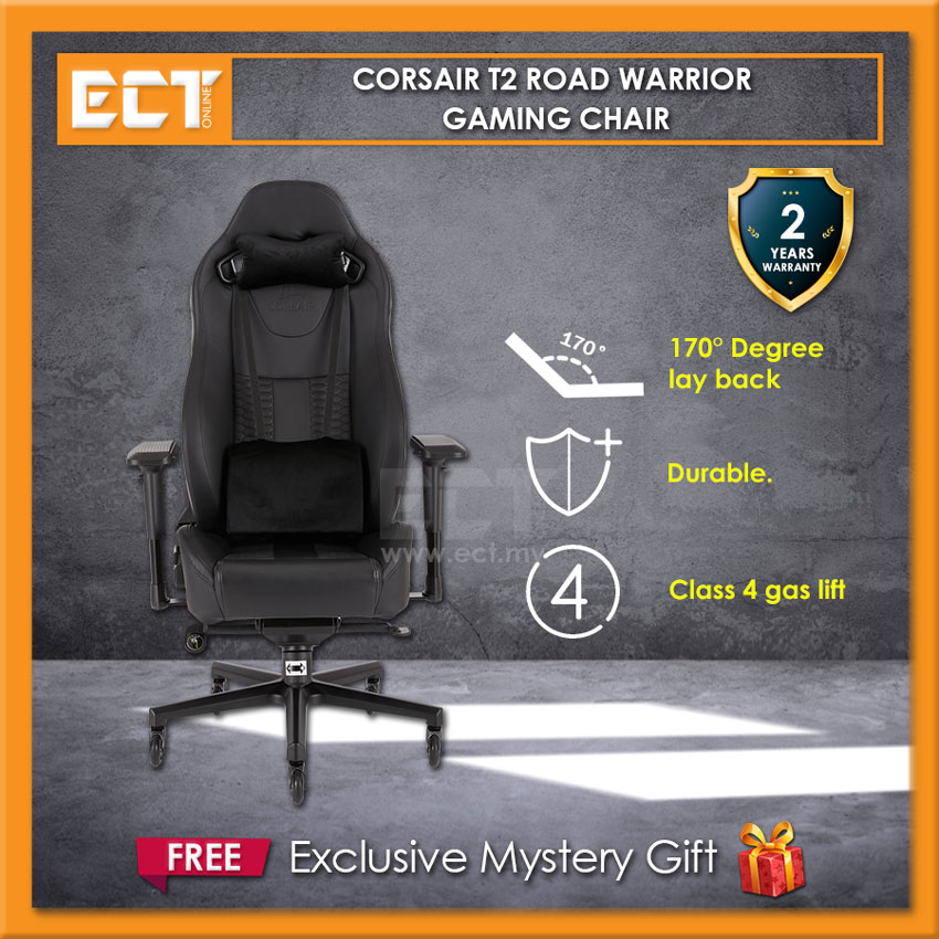 Astounding Corsair T2 Road Warrior Gaming Chair Black With Black White Red Blue Camellatalisay Diy Chair Ideas Camellatalisaycom