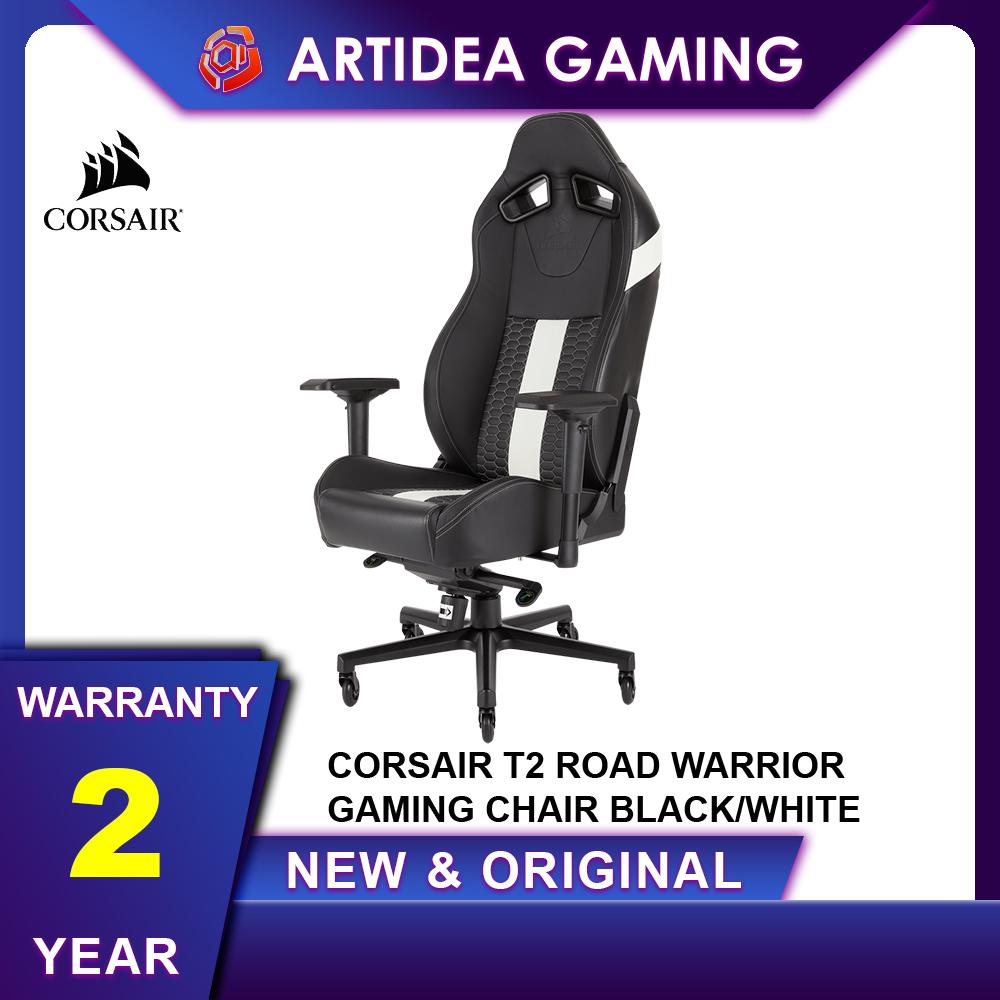 Prime Corsair T2 Road Warrior Gaming Chair Black White Cf 9010007 Ww Camellatalisay Diy Chair Ideas Camellatalisaycom