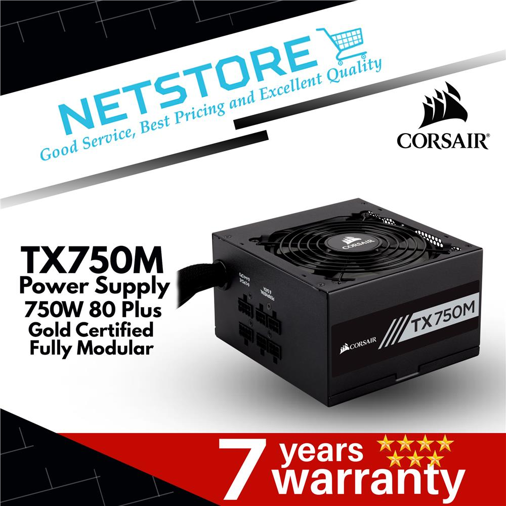CORSAIR TX-M Series™ TX750M — 750 Watt 80 PLUS® Gold Certified PSU