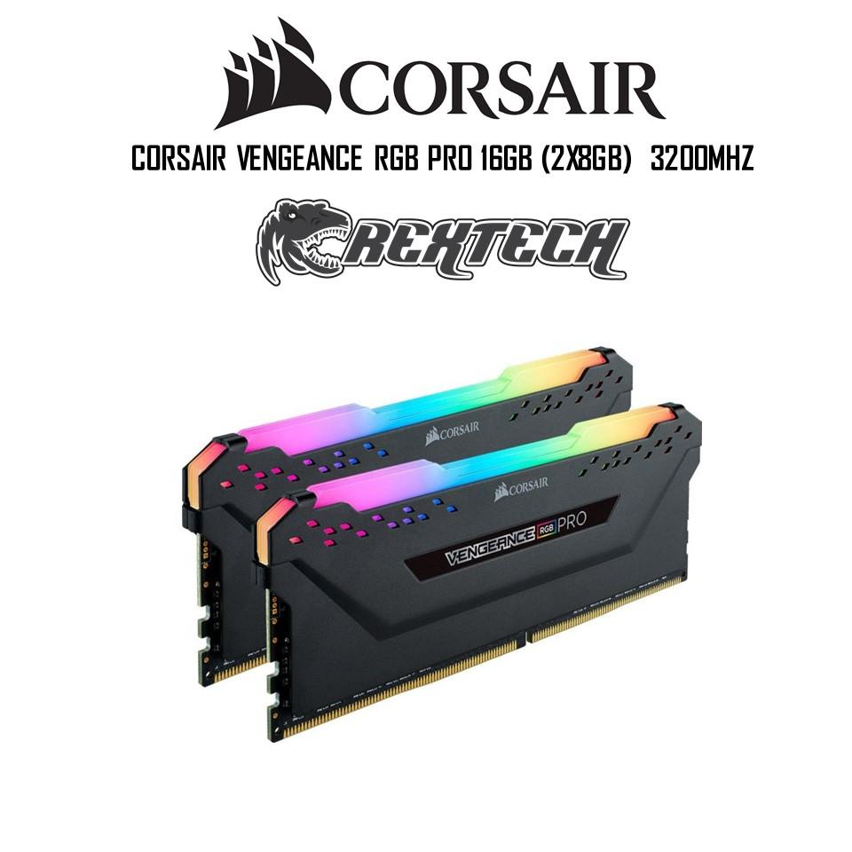 Corsair Vengeance PRO RGB 16GB (2x8GB) 3200Mhz DDR4 RAM Black