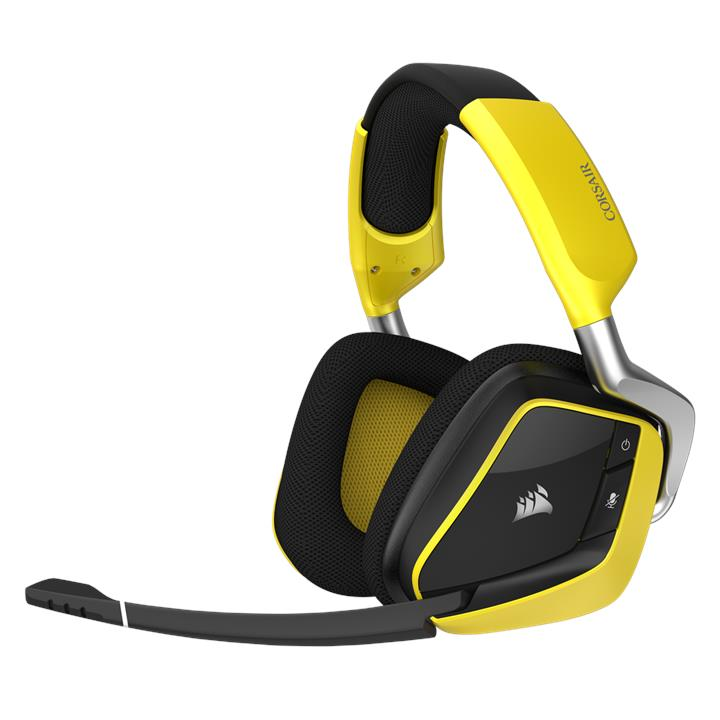 CORSAIR VOID PRO RGB Wireless SE Premium Gaming Headset - Yellow