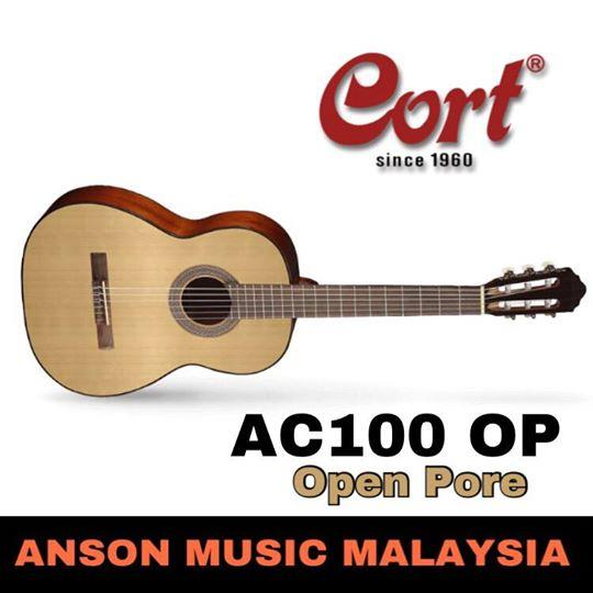 Cort AC100 OP Classical Guitar w/Bag, Open Pore