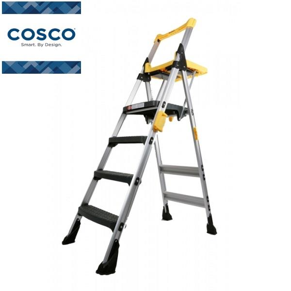 Cosco Workdeck 4 steps Yellow Industrial Aluminium Ladder